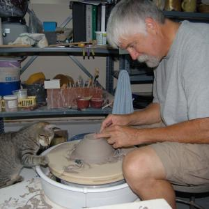 Artist on Pottery Wheel